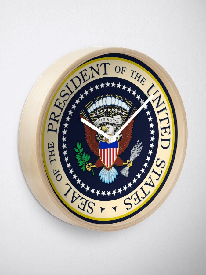 Alternate view of Seal of the President of the United States Clock