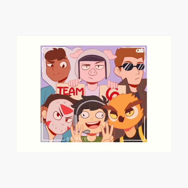 Team 6 Art Print
