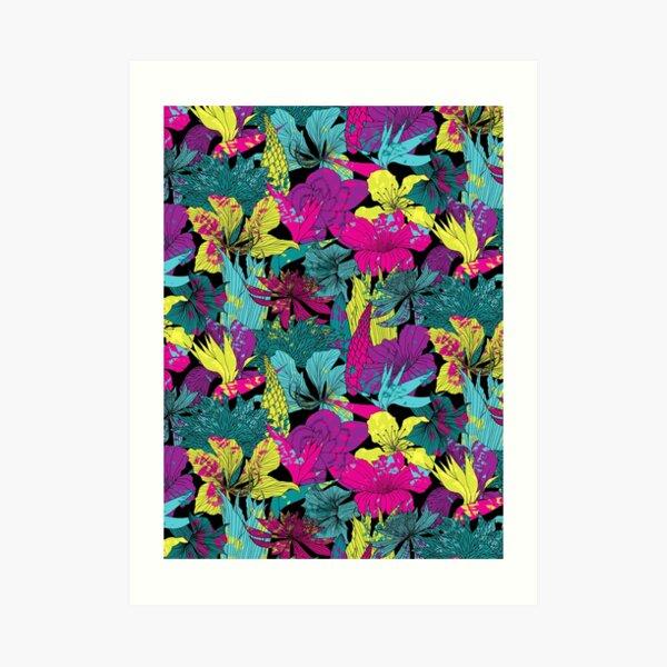 summernight / floral pattern Art Print