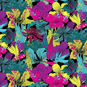 summernight / floral pattern by junillu