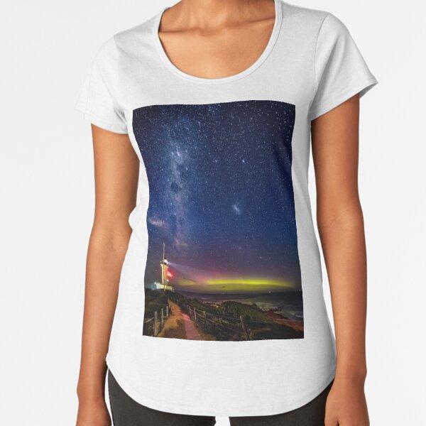 Pt Lonsdale Milky Way & Aurora Australis Premium Scoop T-Shirt