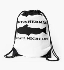 Catfisherman Do It All Night Long Drawstring Bag