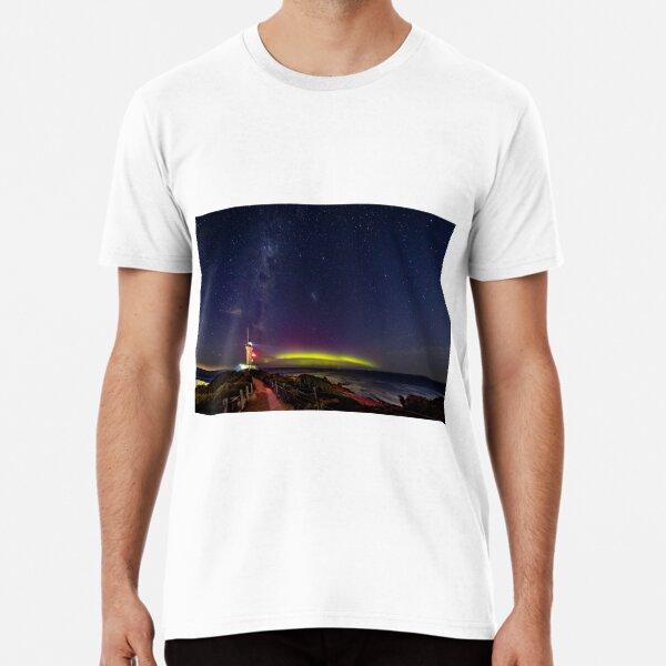Pt Lonsdale Aurora Australis & Milky Way  Premium T-Shirt
