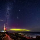 Pt Lonsdale Aurora Australis & Milky Way  by Russell Charters