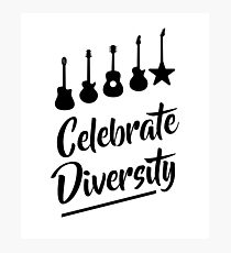 Celebrate Diversity Photographic Print