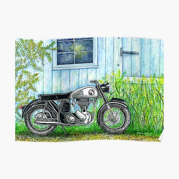 Norton ES2 Motorcycle Poster
