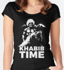 KHABIB TIME Women's Fitted Scoop T-Shirt