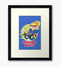 Rambo Brite Framed Print
