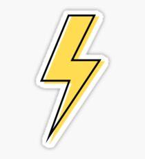 Yellow Flash Pattern Sticker