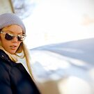 Retro girl with sunglasses by Vegard Giskehaug