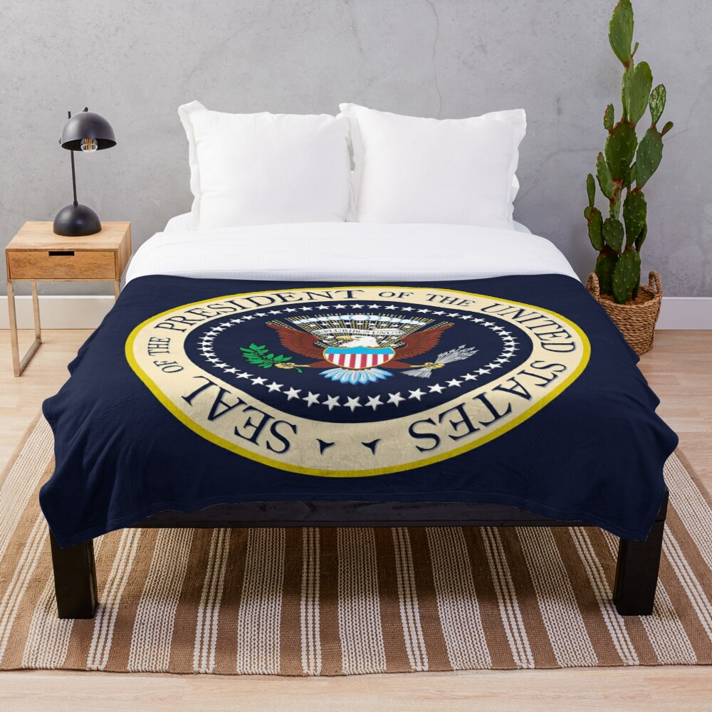 Seal of the President of the United States Throw Blanket