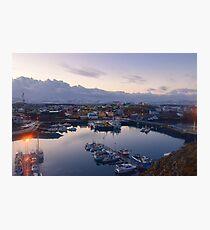 Stykkisholmshafnar, Stykkisholmur, Snaefellsnes, Iceland Photographic Print
