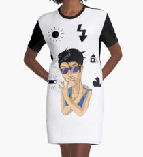 White Balance Graphic T-Shirt Dress