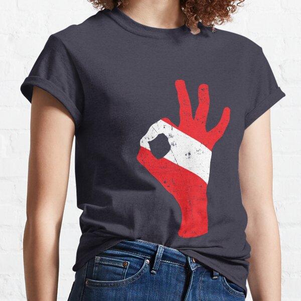 OK Diving Hand Signal Diver Down Dive Flag Classic T-Shirt