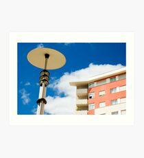 Modern street lamp Art Print