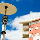 Modern street lamp by mrfotos