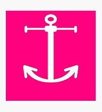 Simple Anchor / Anchors White and Pink Photographic Print