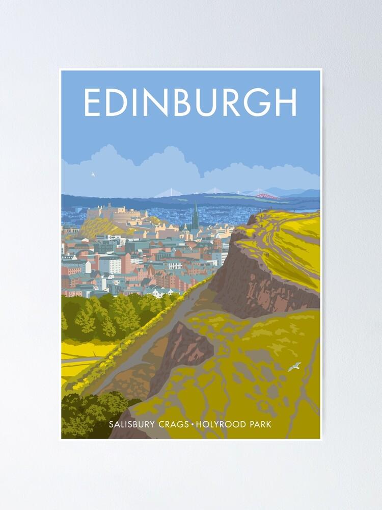 Alternate view of Endinburgh, Salisbury Crags Poster