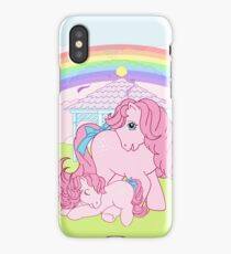 retro g1 my little pony cotton candy and baby iPhone Case/Skin