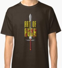 "Medieval sword and text ""Art of rush"" Classic T-Shirt"