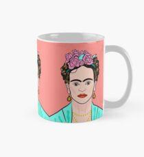 Frida Kahlo ( Coral background ) Mug