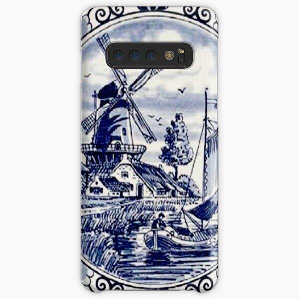 DUTCH BLUE DELFT: Vintage Windmill Print Samsung Galaxy Snap Case