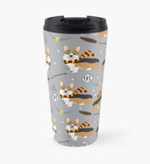 corgi potter wizarding world pattern Travel Mug