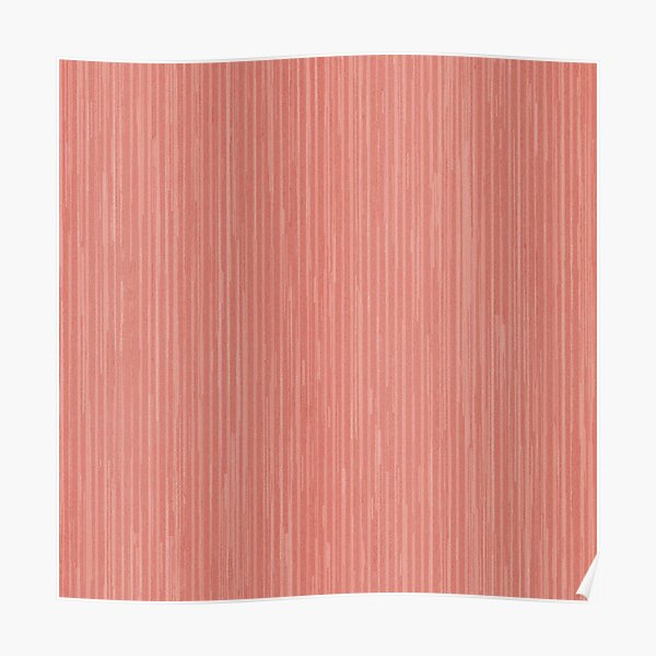 Abstract modern coral geometrical stripes Poster