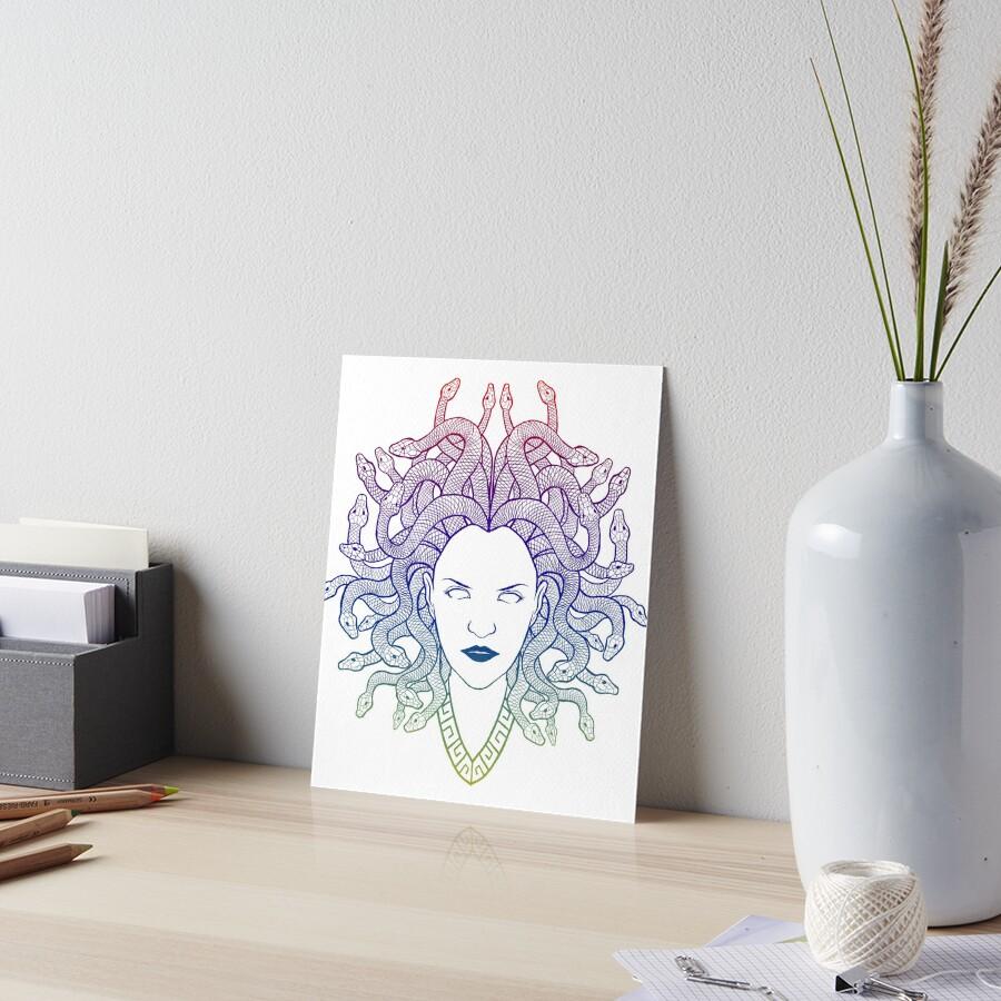 Medusa (colors) Art Board Print