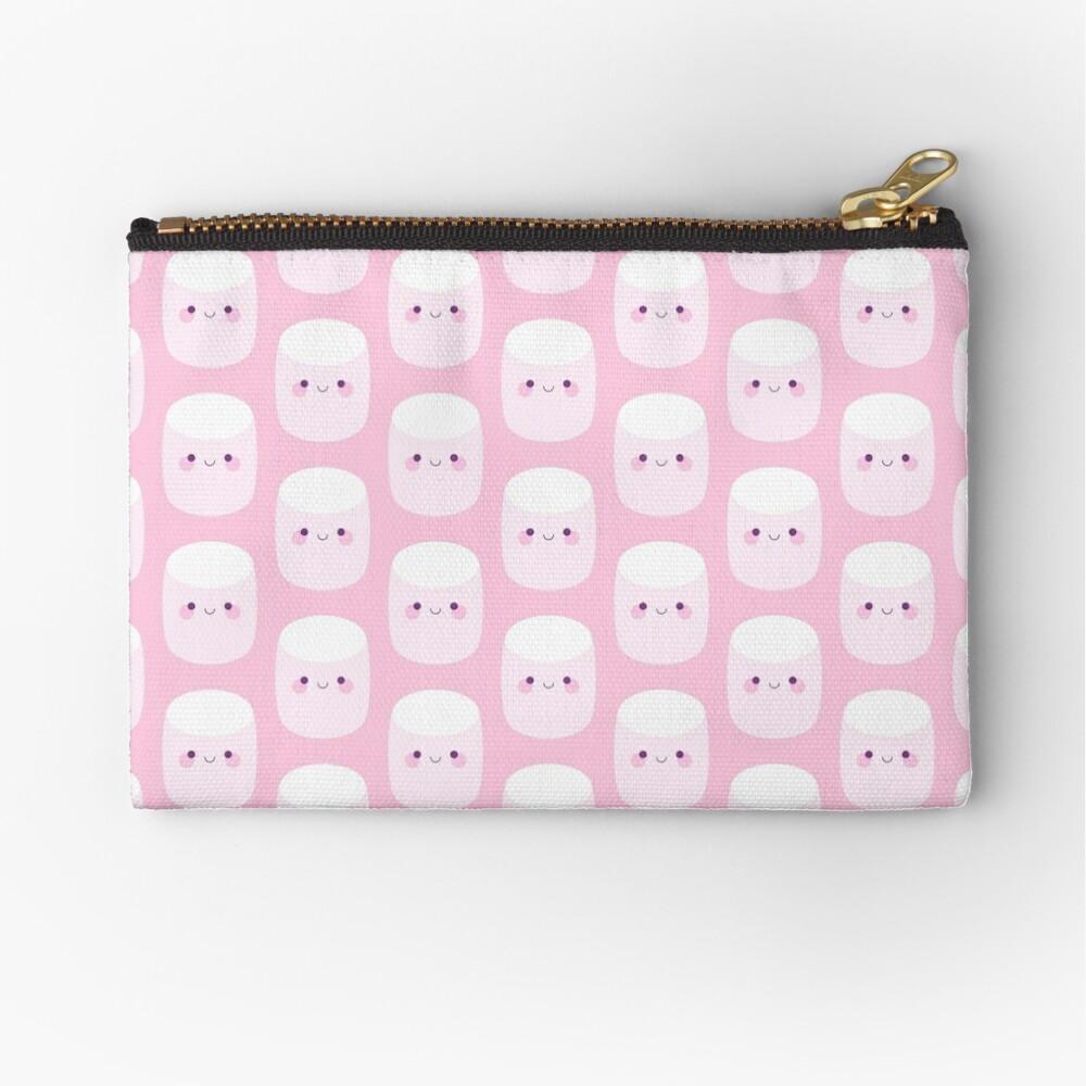 Cute pink marshmallows Zipper Pouch