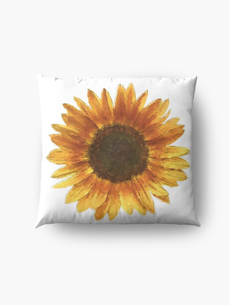 Alternate view of Sunflower Floor Pillow