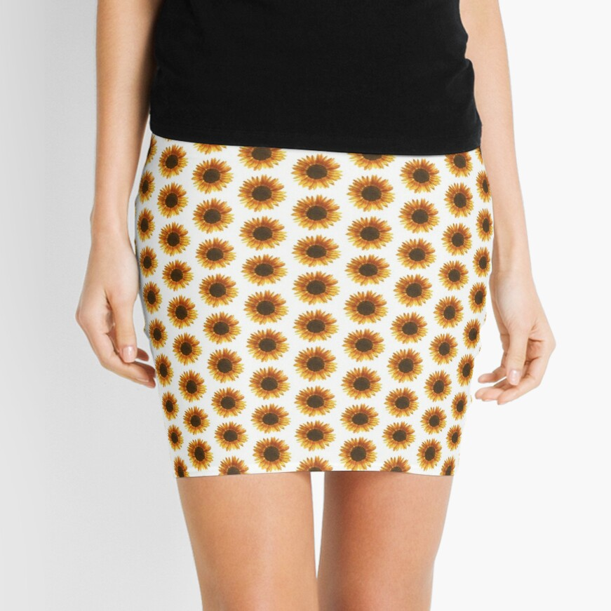 Sunflower Mini Skirt