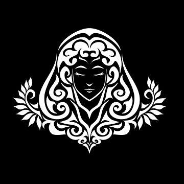 Zodiac Sign Virgo White by elangkarosingo