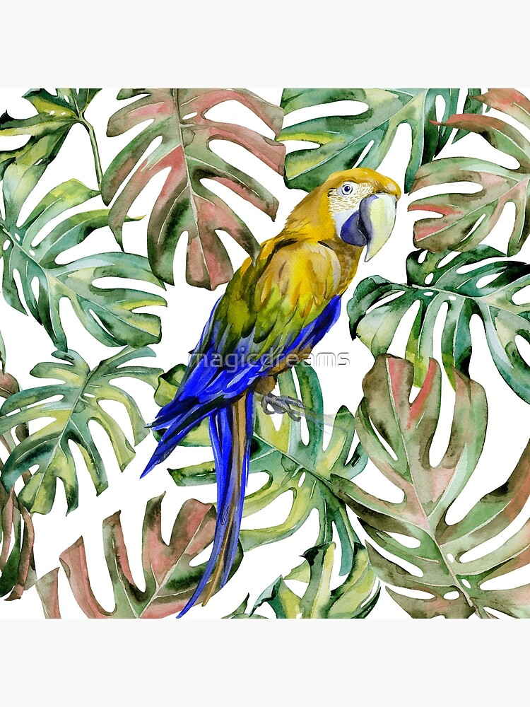 PARROT IN THE JUNGLE by magicdreams