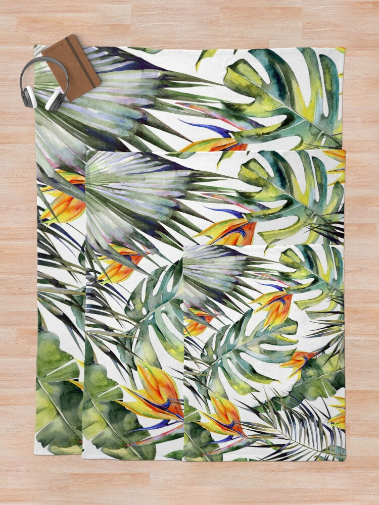 Alternate view of TROPICAL GARDEN Throw Blanket