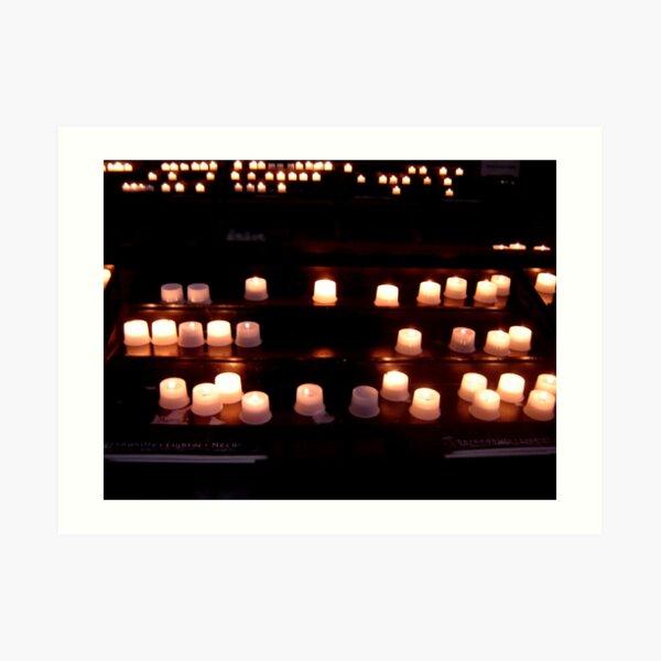 The candle guidance II Art Print
