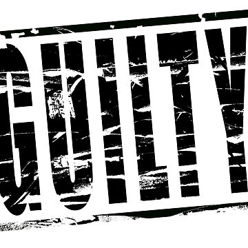 Digital composite - Black stamp effect - Guilty by stuwdamdorp