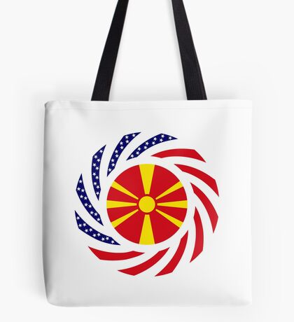 Macedonian American Multinational Patriot Flag Series Tote Bag