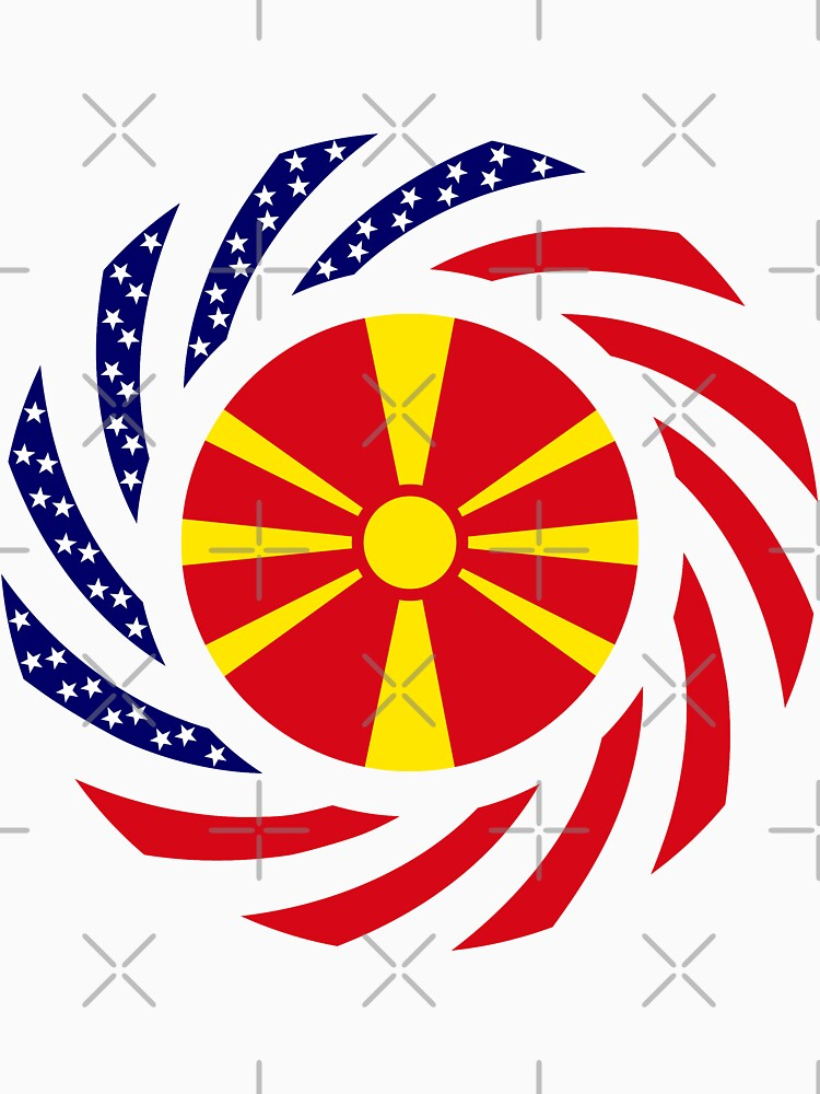 Macedonian American Multinational Patriot Flag Series by carbonfibreme