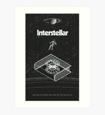 Interstellar movie Art Print