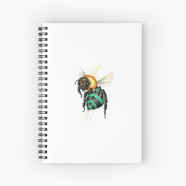 Blue Bee One  Spiral Notebook
