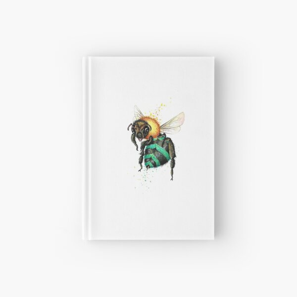 Blue Bee One  Hardcover Journal