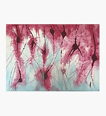 purple electric neurons storm Photographic Print