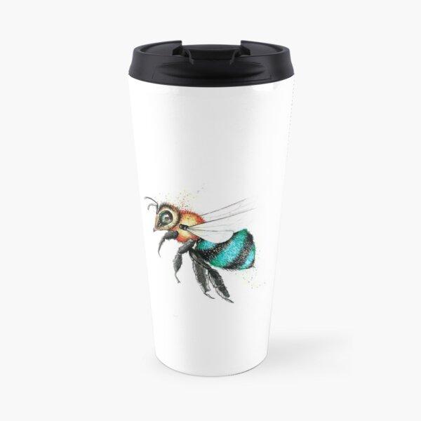 Little Blue Bee  Travel Mug