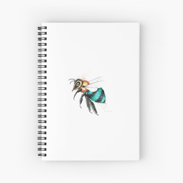 Little Blue Bee  Spiral Notebook