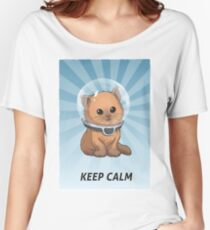 Subnautica: Keep Calm Kitty Women's Relaxed Fit T-Shirt