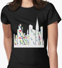 Urban skyline2 Women's Fitted T-Shirt