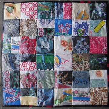 Repurposed Plastic Bag Quilt by matadecoco