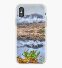 A Train Across The Lake At Great Glencoe At Highlands Scotland iPhone Case