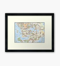 Map of Faerun 3E Framed Print